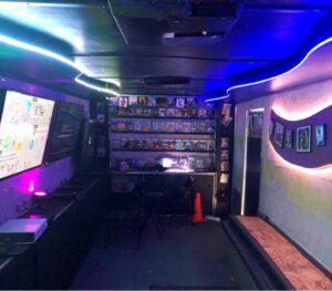Video game bus and game truck in San Bernardino County, California