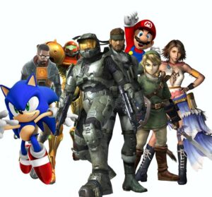 Video game characters - West Coast Mobile Gaming video game party in San Bernardino County