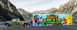 Video game truck and trailer in San Bernardino County California