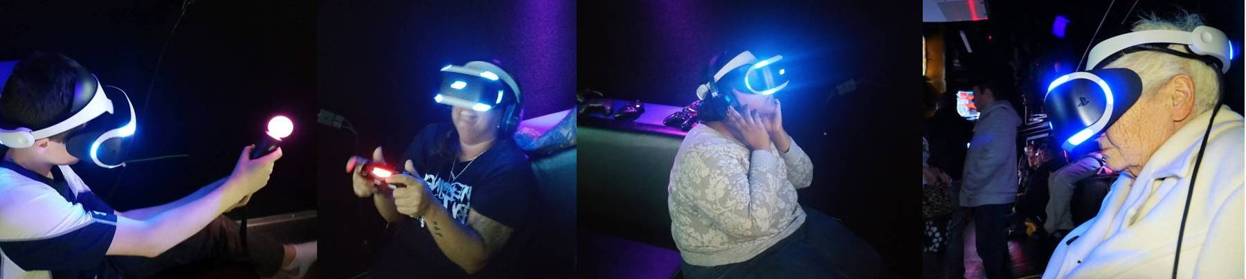 Virtual reality video game truck party in San Bernardino County