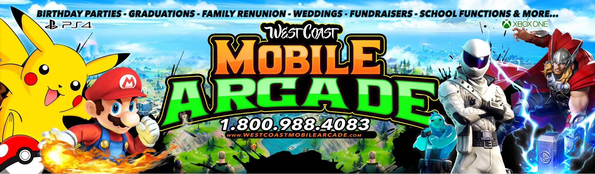 West Coast Mobile Arcade video game truck in San Bernardino County California